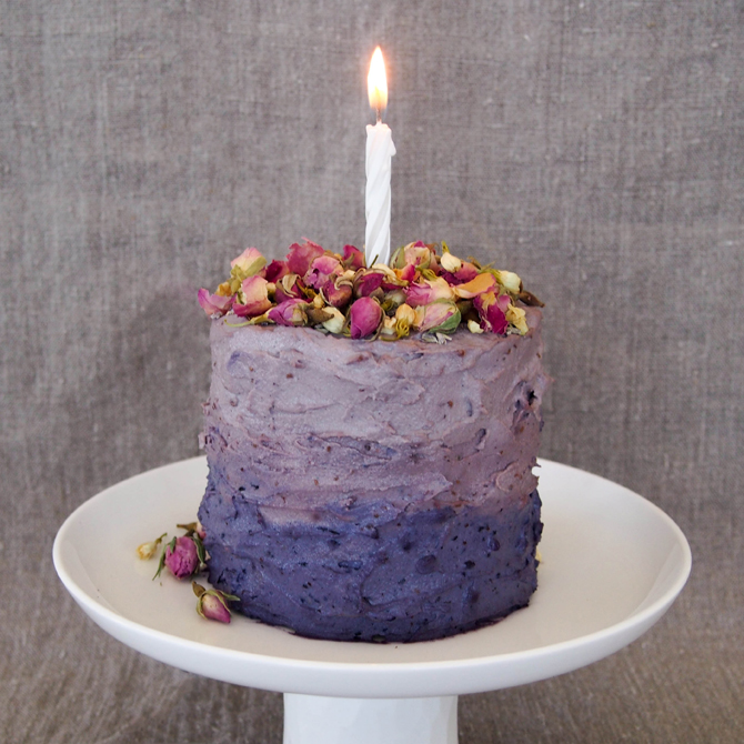 Secret Squirrel Food Banana Birthday Cake Blueberry Cream Frosting